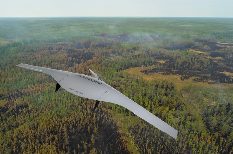 UAVs Supercam for forest areas protection